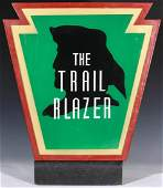 A PENNSYLVANIA RAILROAD TAIL SIGN FOR THE TRAIL BLAZER