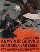 A WWI U.S. ARMY AIR SERVICE RECRUITMENT POSTER