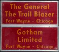 THREE PENNSYLVANIA RAILROAD GATE SIGNS