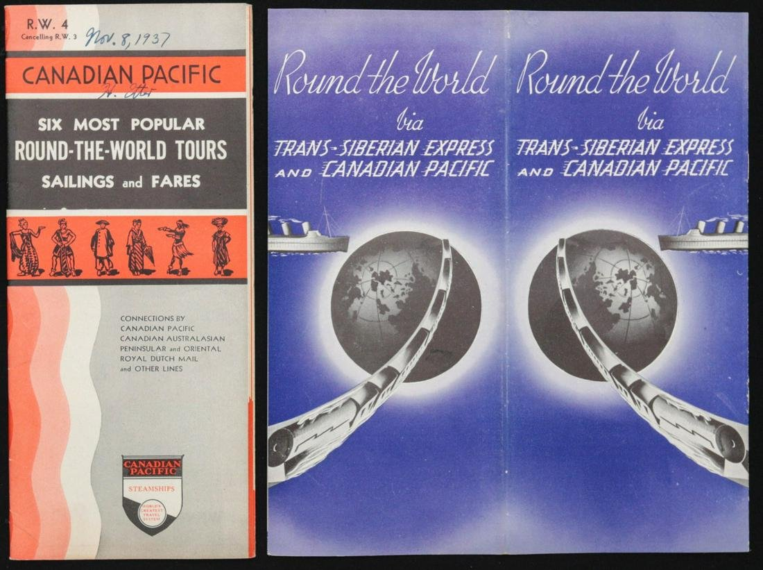 A COLLECTION OF CANADIAN PACIFIC STEAMSHIP BROCHURES