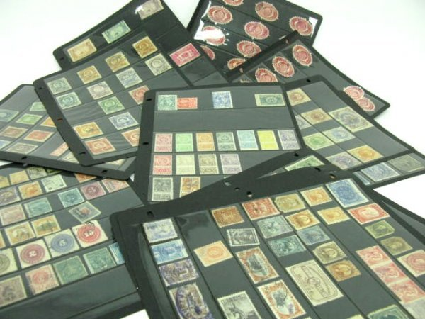 1005: THREE STAMP ALBUMS: MEXICAN & SOUTH AMERICAN