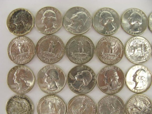 1013: 10$ ROLL UNC 1961 WASHINGTON QUARTERS - 2