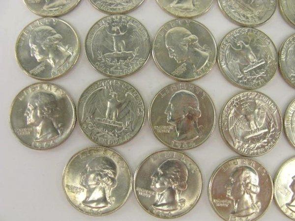 1018: 10$ ROLL UNC 1964 WASHINGTON QUARTERS - 5