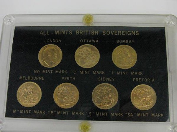 1141: SEVEN GOLD COIN BRITISH SOVEREIGNS, ALL MINT MARK