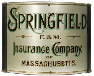 A NICELY 19TH C. CORNER SIGN FOR SPRINGFIELD INSURANCE