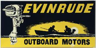 A VERY GOOD EVINRUDE OUTBOARD MOTORS ADVERTISING SIGN