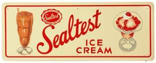 A SEALTEST ICE CREAM ADVERTISING SIGN CIRCA 1957