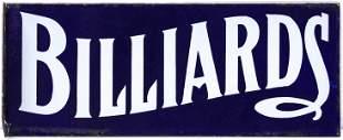 A SIMPLE CLASSIC PORCELAIN | BILLIARDS | FLANGE SIGN
