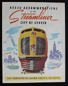 A COLLECTION OF UNION PACIFIC STREAMLINER MEMORABILIA