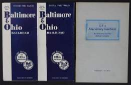 A COLLECTION OF MID 20 C BALTIMORE AND OHIO RR EPHEMERA