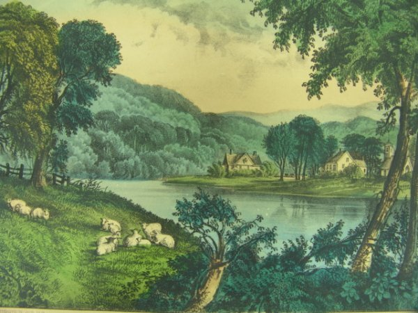 20A: ORIGINAL CURRIER & IVES: SUSQUEHANNA SCENE
