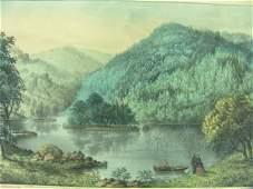 40A: ORIGINAL CURRIER & IVES: SYLVAN LAKE