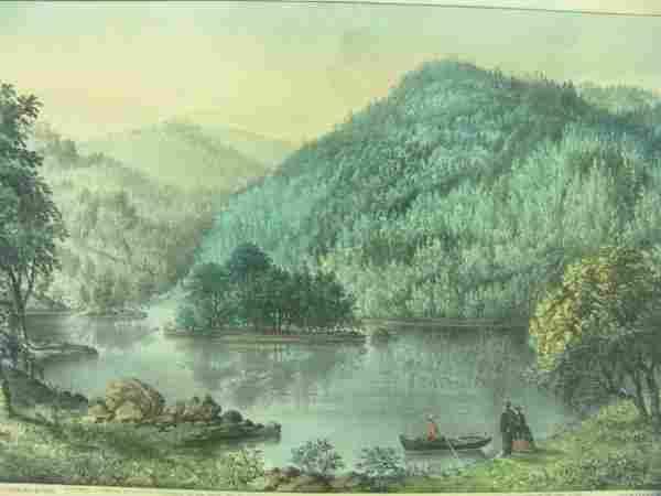ORIGINAL CURRIER & IVES: SYLVAN LAKE