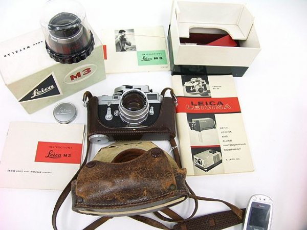 315: LEICA M3 35 MM CAMERA WITH LEITZ 50MM F1.4 LENS