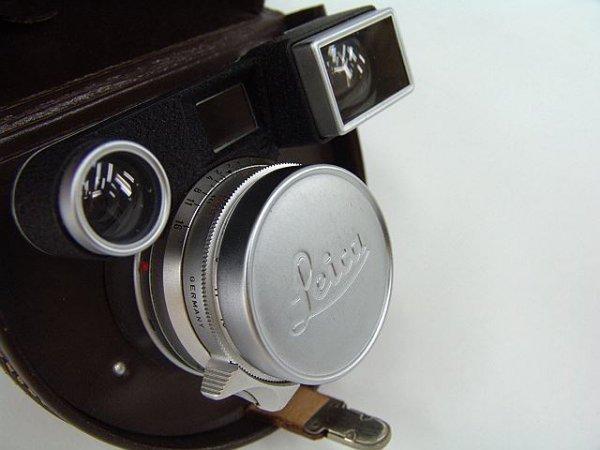 316: LEICA LEITZ 35MM/F2.0 LENS W/ OPTICAL VIEWING UNIT