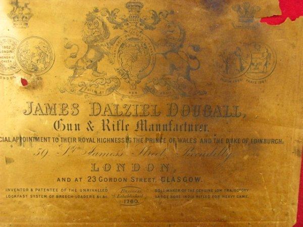 332: JAMES DOUGALL ANTIQUE SHOTGUN CASE & TOOLS