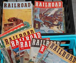 CA 1950s RAILROAD MAGAZINE MILITARY