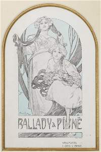 BOOK COVER ILLUSTRATION AFTER ALPHONSE MUCHA