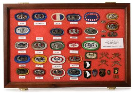 25 SCARCE AIRBORNE OVALS AND GLIDER WINGS, SOME NAMED