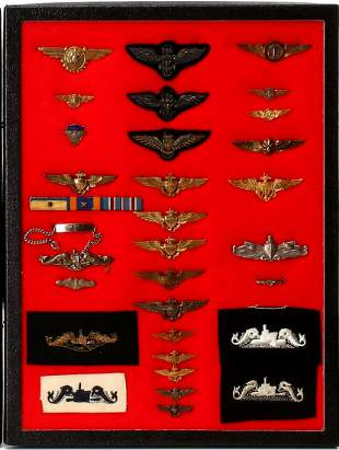 A VERY GOOD COLLECTION OF NAVY BULLION AND METAL WINGS