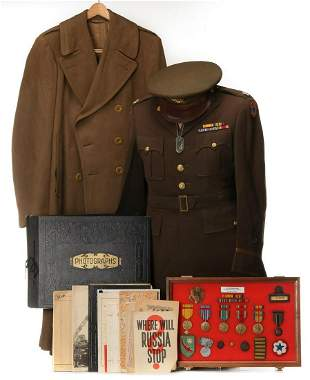 LT. COLONEL LAWLER GROUPING WWI/WWII AWARDS & UNIFORMS