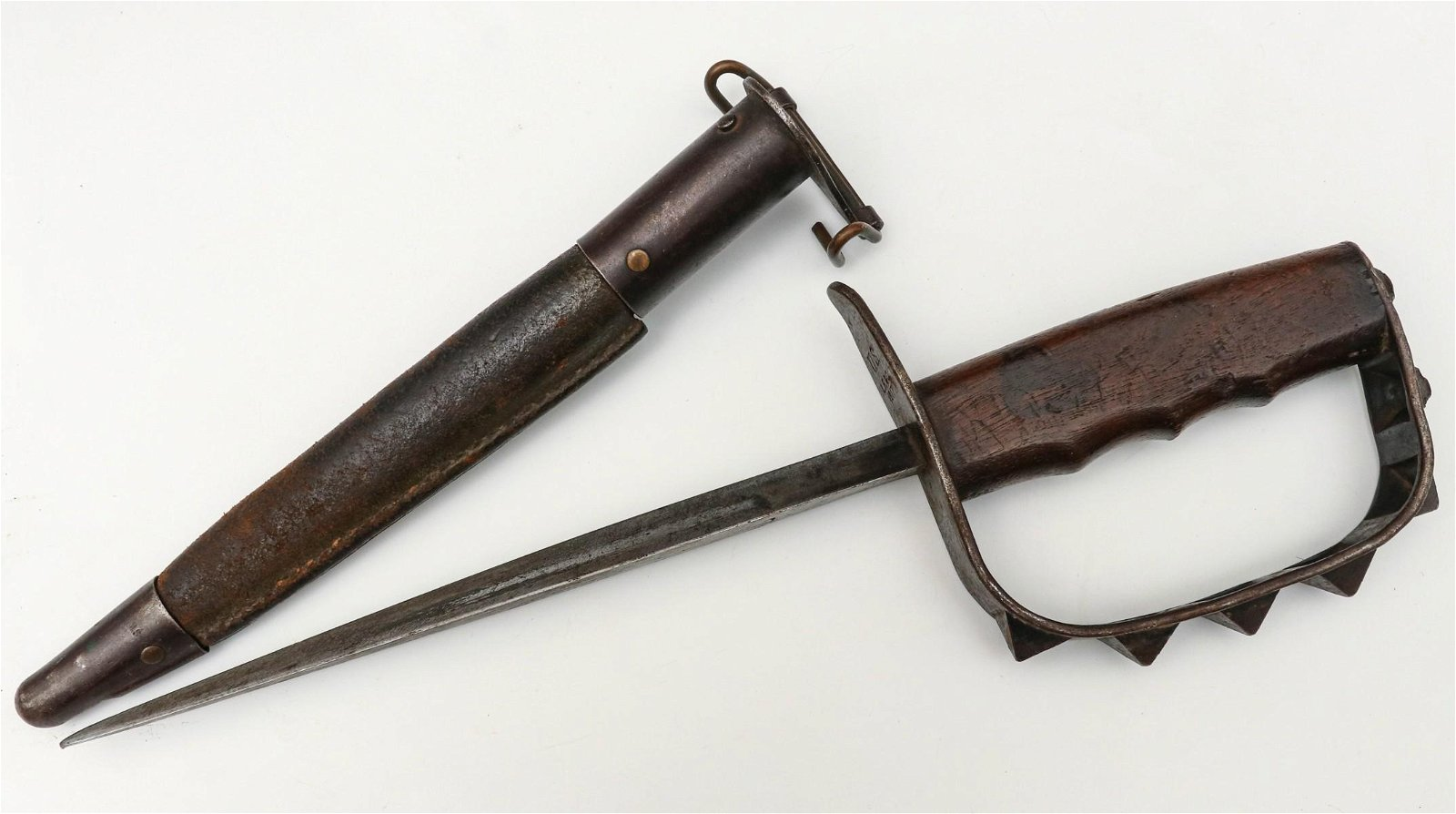 US ARMY WWI M-17 KNUCKLE DUSTER TRENCH KNIFE