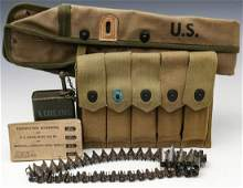US WWII CARBINE SCABBARD MAGAZINE POUCHES ETC