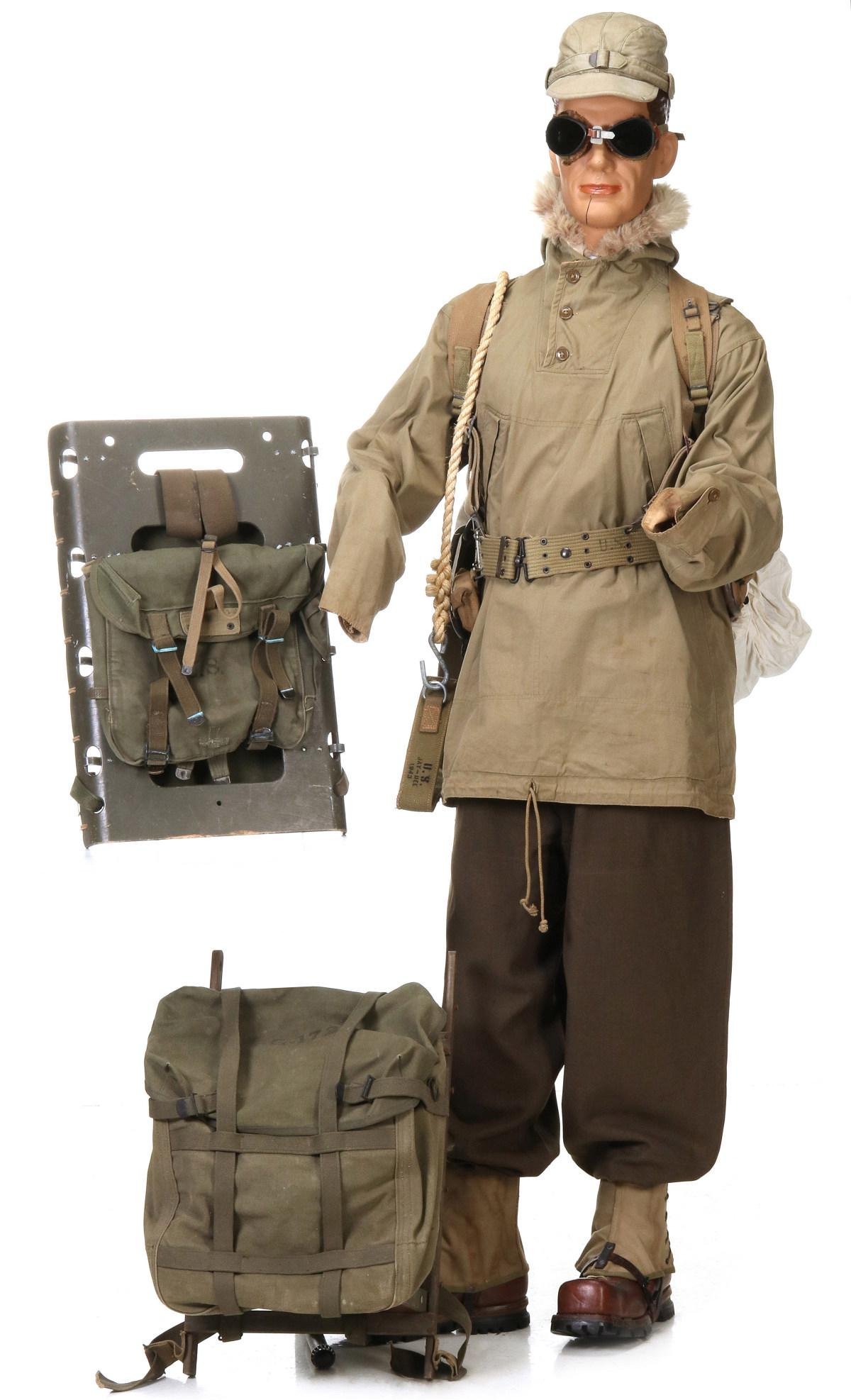 GEAR AND UNIFORM DEPICTION OF US 10TH MOUNTAIN DIVISION