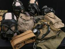 VERY RARE GAS MASKS INVASION BELT AND REBREATHER GROUP