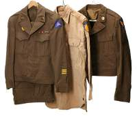 US WWII ARMY AIR FORCE AND OTHER IKE JACKET UNIFORMS