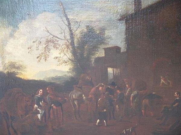 22: 17TH CENTURY FLEMISH SCHOOL OIL ON CANVAS