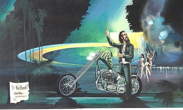 189: PAINTING BY DAVID MANN, EASYRIDER MOTORCYCLE ARTIS