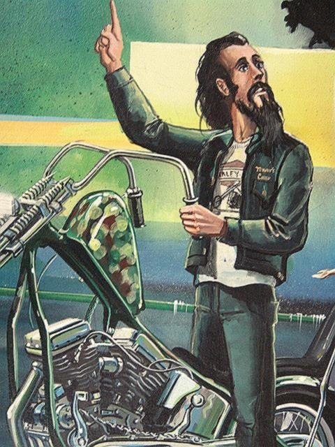 189: PAINTING BY DAVID MANN, EASYRIDER MOTORCYCLE ARTIS - 3