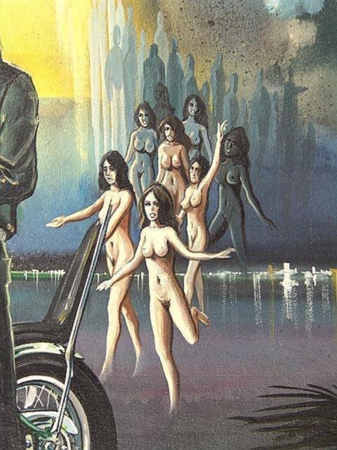 189: PAINTING BY DAVID MANN, EASYRIDER MOTORCYCLE ARTIS - 4
