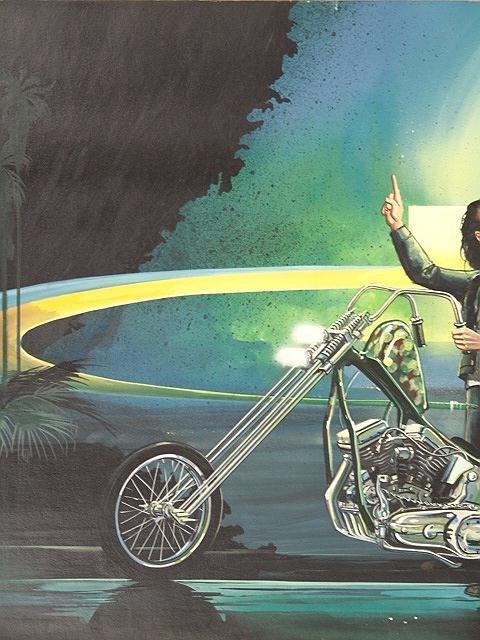 189: PAINTING BY DAVID MANN, EASYRIDER MOTORCYCLE ARTIS - 5