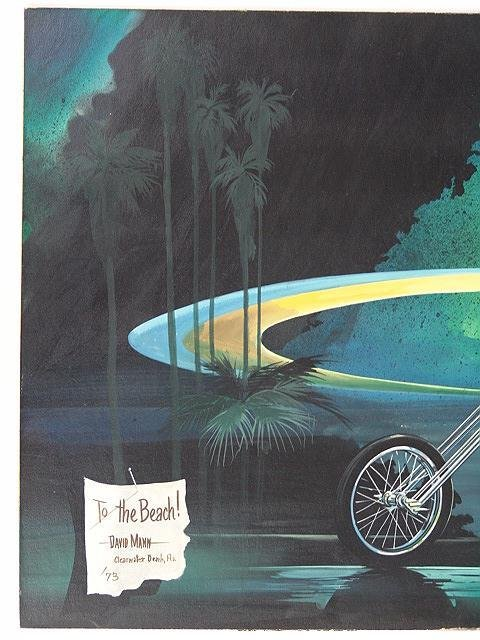189: PAINTING BY DAVID MANN, EASYRIDER MOTORCYCLE ARTIS - 6