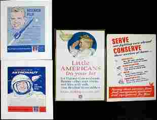 NEIL ARMSTRONG PLACARD WWII PATRIOTIC EFFORT ADS