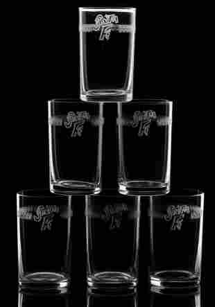 SANTA FE TUMBLERS WITH EARLY NEEDLE-ETCHED LOGO