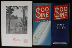 A COLLECTION OF EARLY SOO LINE RAILROAD EPHEMERA
