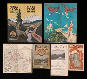 EARLY PIKE'S PEAK, COG WHEEL ROUTE COLORADO EPHEMERA