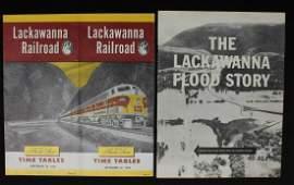 A COLLECTION OF LACKAWANNA RAILROAD TRAVEL EPHEMERA