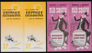 A COLLECTION OF SOUTHERN PACIFIC TIME TABLES BROCHURES