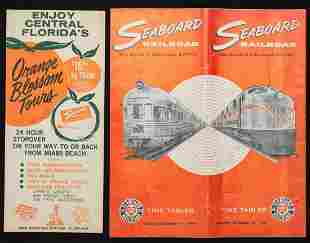 A COLLECTION OF SAL RAILROAD TIME TABLES BROCHURES
