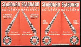 A COLLECTION OF SAL RAILROAD TIME TABLES MORE