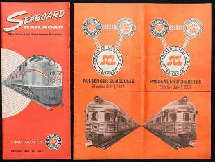 A COLLECTION OF SAL RAILROAD TIME TABLES