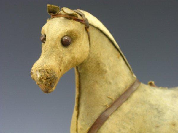 21: 1900 VINTAGE HORSE ON PLATFORM, TOY