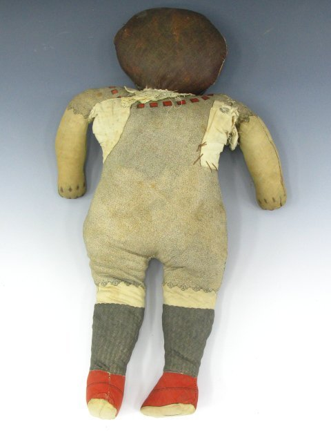 "126: 23"" 1900 FEEDSACK RAG DOLL MISS KORN-KRISP - 8"