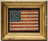 A RARE U.S. 29-STAR IOWA STATEHOOD FLAG CIRCA 1847