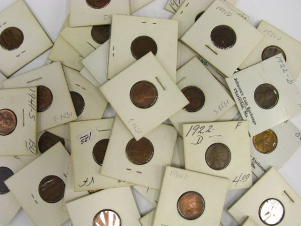 713: LOT OF BU TO F LINCOLN CENTS