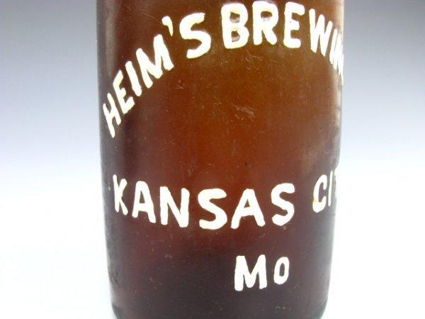 719: BEER BOTTLE HEIM'S BREWING, KANSAS CITY MO